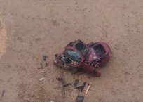 Превратилась в груду металла: под Севастополем машина слетела с обрыва, фото — «Рекламы Севастополя»