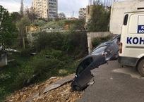 Стали известны первые подробности с места обрушения парковки в Севастополе, фото — «Рекламы Севастополя»