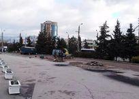 На севастопольской площади 50-летия СССР устроят пропускной пункт и зеленую зону, фото — «Рекламы Севастополя»