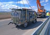 На «Тавриде» лоб в лоб столкнулись УАЗ и BMW, фото — «Рекламы Ялты»