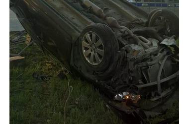 В Крыму перевернулся объявленный в розыск автомобиль ФОТО, фото — «Рекламы Симферополя»