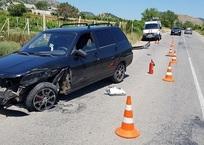 На крымской трассе столкнулись два автомобиля ФОТО, фото — «Рекламы Алушты»