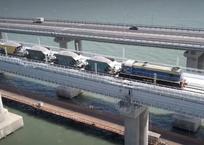 Железнодорожное сообщение Крыма с Таманью стало почти регулярным, фото — «Рекламы Севастополя»