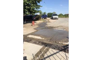 Керченское шоссе в Феодосии затапливает грунтовыми водами , фото — «Рекламы Крыма»