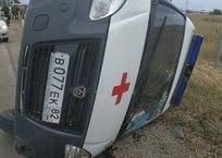 В Крыму на трассе перевернулась «скорая» — ищут свидетелей, фото — «Рекламы Ялты»