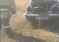 В Крыму иномарка опрокинулась в кювет - пострадал водитель ФОТО, фото — «Рекламы Алушты»