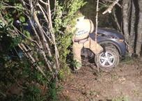 На горной дороге в Крыму перевернулся легковой автомобиль с людьми, фото — «Рекламы Алупки»