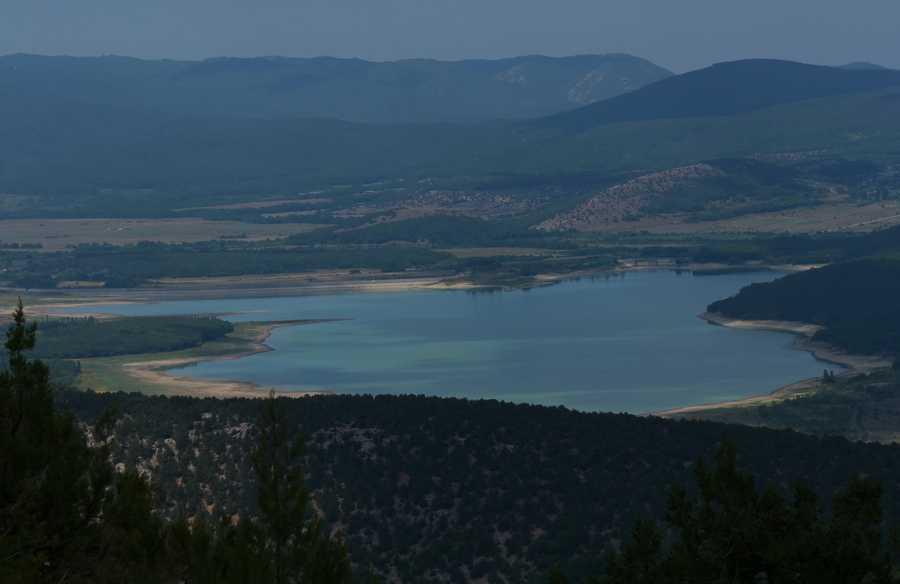 Как севастопольский ливень наполняет Чернореченское водохранилище